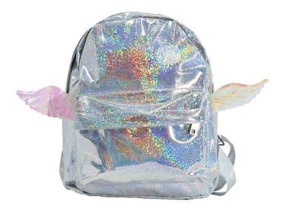 Mochila Con Glitter Y Alas