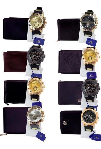 Kit 10 Relógio Masculino Carteira Revenda Garantia Original