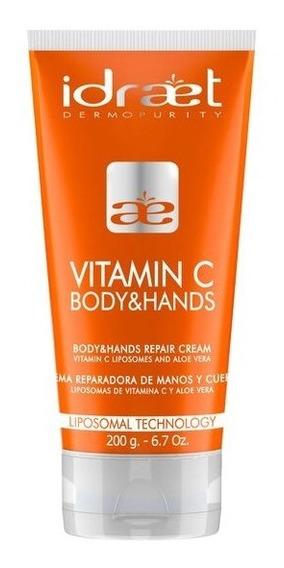 Crema Vitamina C Emulsion Manos Y Cuerpo Hidratante Idraet