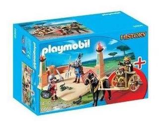 Brinquedo Playmobil Arena Combate Com Gladiadores 4-10 Anos