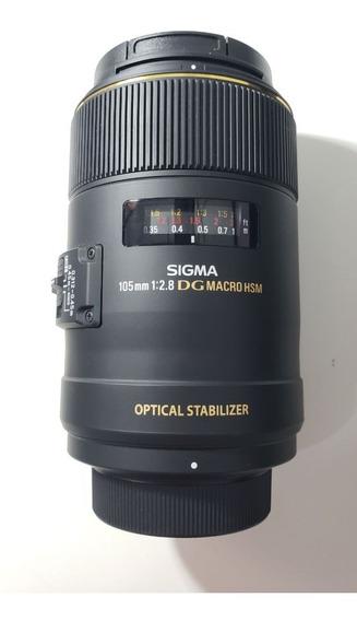 Lente Sigma Para Nikon 105mm F/2.8 Ex Dg Hsm - Semi Nova