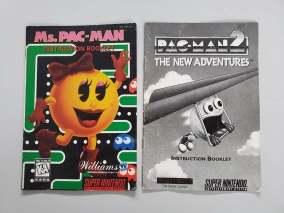 Manual Pac-man Snes Original - Frete Grátis