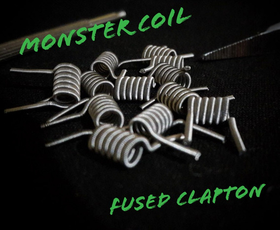 Resistencias Artesanales Fused Clapton Full N80 Monster Coil