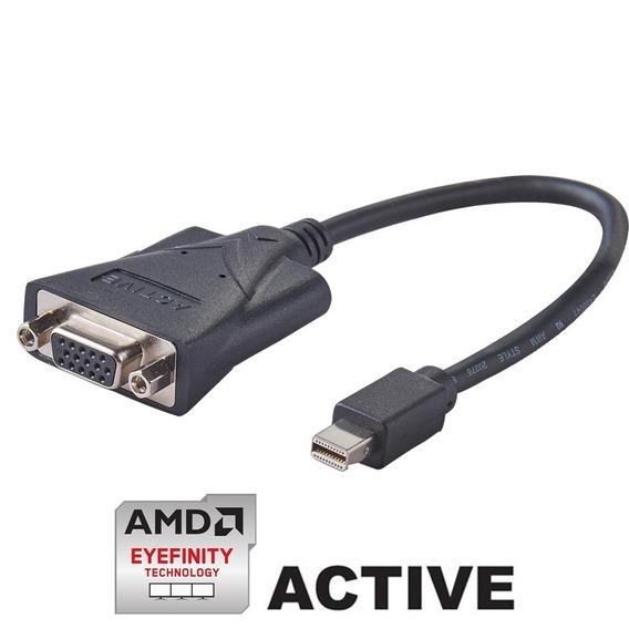 Lote 6 Adaptador Mini Dp Vga Ativo 60hz | Ati Eyefinity
