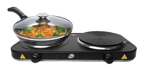 Anafe Electrico 2 Hornallas 2500w De Potencia Cocina Rapido