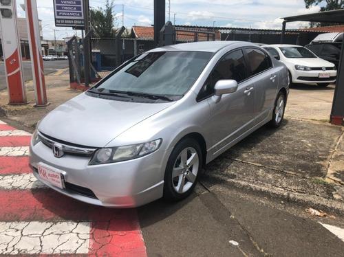 New Civic 1.8 Lx Gasolina Automático Prata 2007