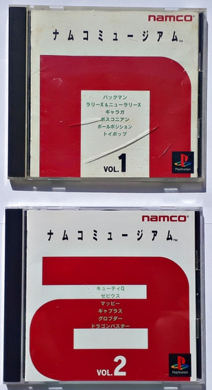 Jogos Namco Museum Vol 1 E 2 Playstation Ps1 Original Japonê