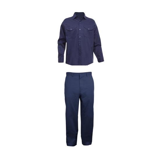 Kit Camisa Y Pantalon Reforzado Azul Marino Oscuro.- Des Re