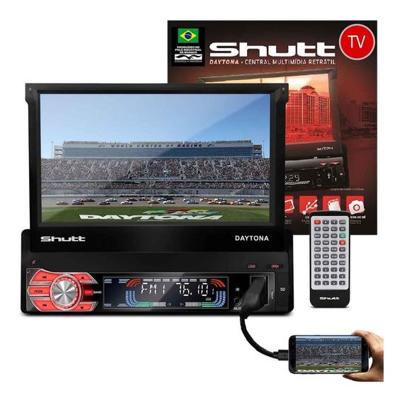 Mp5 Retrátil 7 Polegadas Daytona Tv Digital Touch Mp3 Mp4