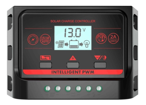 Controlador Regulador Carga 10a Painel Solar + Brindes