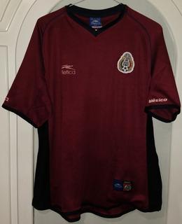 Jersey Mexico Año 2002 Atletica Guinda Talla Mediana