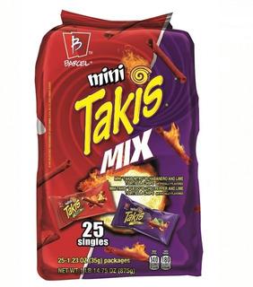 Barcel Mini Takis Chips De Tortilla Enrollados Crujientes