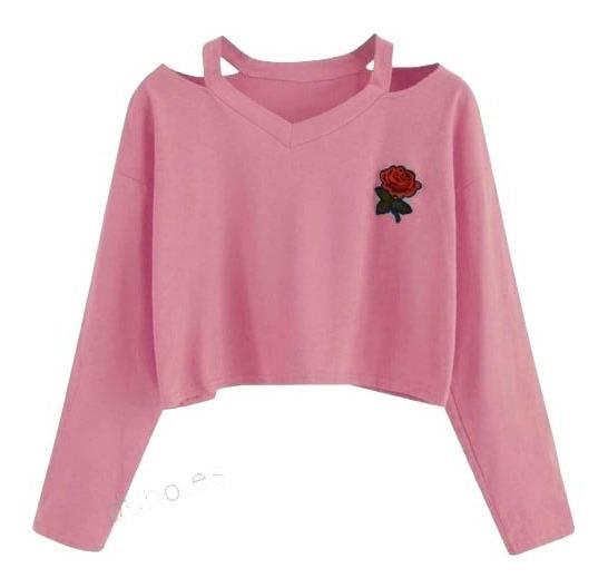 Sueter Dama Sweater Crop Top
