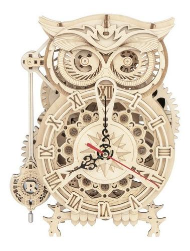Creativo 3d Bricolaje Modelo Construcción Kit Búho Reloj De