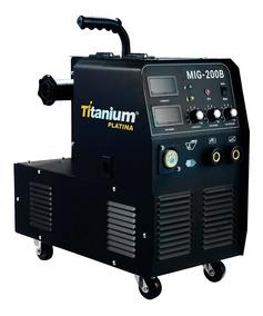 Máquina De Solda 3 Em 1 Mig/tig/mma Profissional 200a Monof