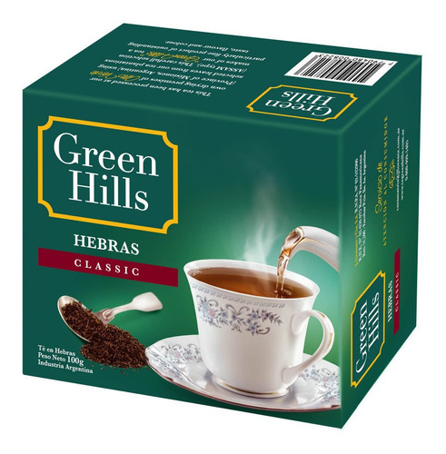 Te Green Hills En Hebras Classic Clasico 100g - 01mercado