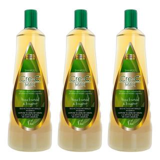 3 Pack Shampoo Cre-c Max 1lt - Anti Caída Del Cabello