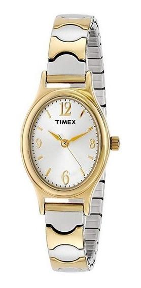 Relogios Femininos Dourado Timex Aço Inoxidável Tx T2p300 Feminino Sem Luz Classic Prateado Adultos
