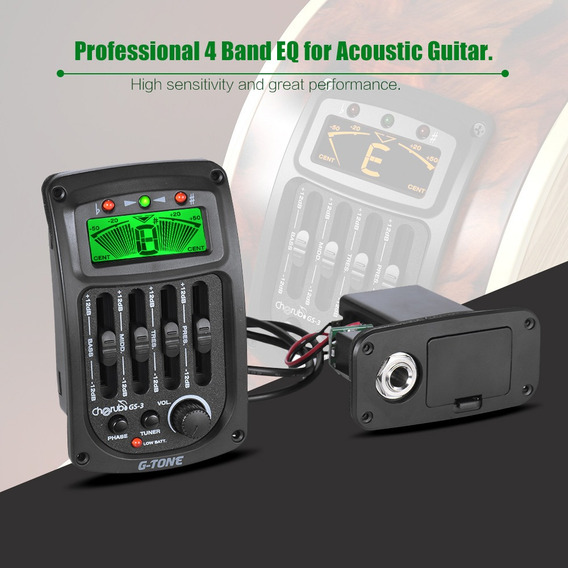 Querubim Gs-3 Ac??stica 4-band Eq Equalizador Guitarra Pream