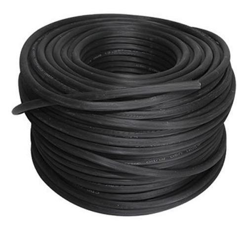Cable Uso Rudo St 2x16 Negro 100% Cobre 600v Nom 100m Cdc
