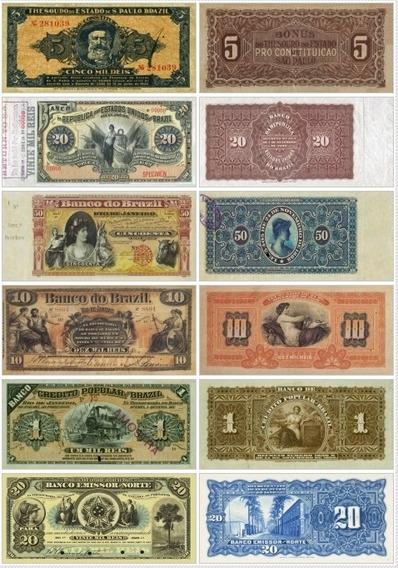 Réplicas Cedulas Brasileiras - Todas Emitidas