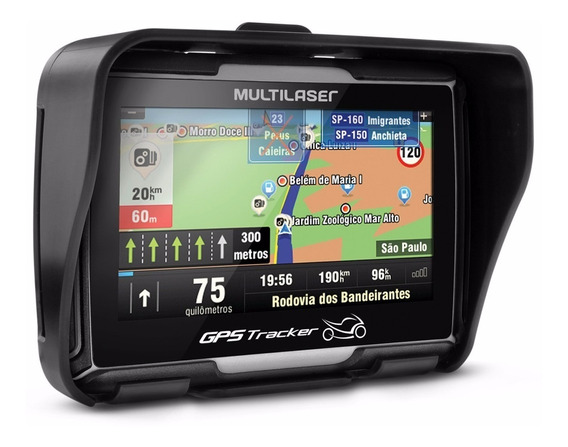 Gps Navegador Multilaser Tela 4.3 Videos Mp3 Moto Bluetooth