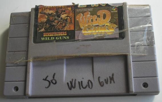 Wild Guns Super Nintendo Paralela Usada