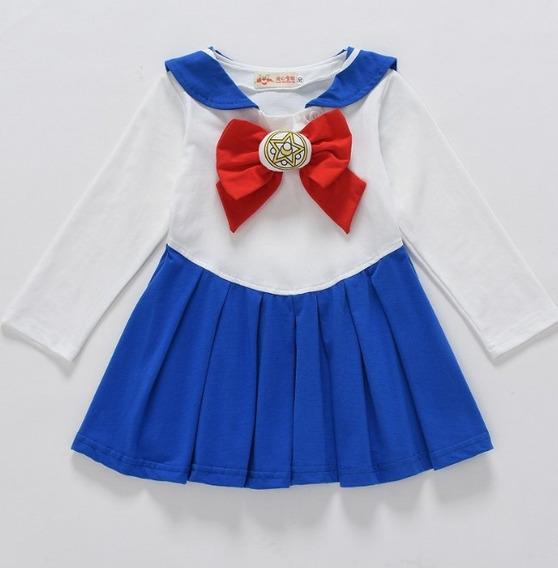 Vestido Para Niñas Selena Disfraz Sailor Moon