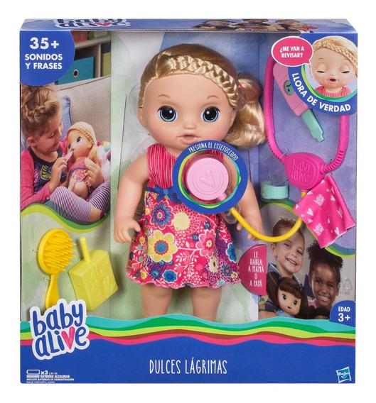 Muñeca Bebe Hasbro C0957 Baby Alive Llora Habla Accesorios