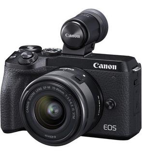 Canon Eos M6 15-45mm 32mp Video 4k Pantalla Tactil Rotativa