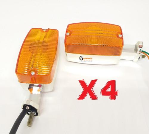 Imagen 1 de 10 de 4 Direccionales Para Moto Suzuki Ax100 Fr80 Universales