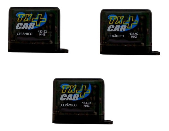 3 Unid De Controles Motor Portão Eletrônico Farol Tx Car