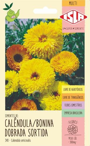 Sementes De Calêndula/bonina Dobrada Sortida Flor
