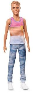 Barbie Ken Fashionistas Hyped Rayas Muñeca, Slim