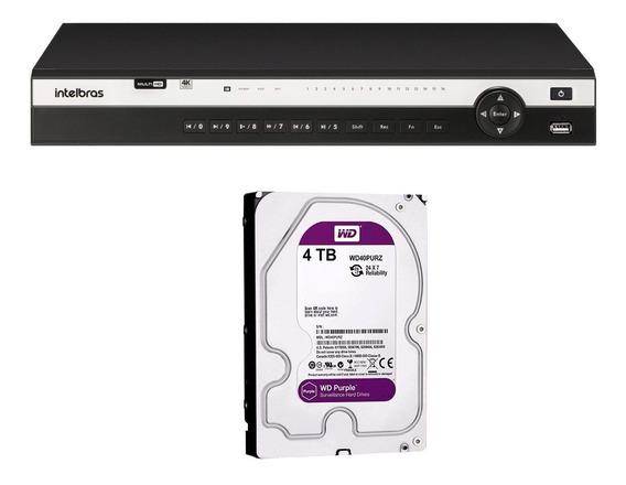 Dvr Gravador 16 Canais Intelbras 4k Mhdx 5216 8mp + 4tb Tf