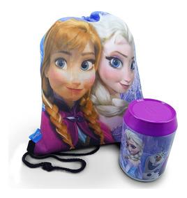 Lata + Mochila Saco Anna Elsa & Olaf Frozen - Disney