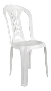 Silla Plastico Blanca Mor Reforzada 140 Kg Apilable LG