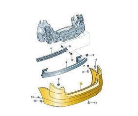 Cobertura Do Parachoque Ref 5z9807417gru