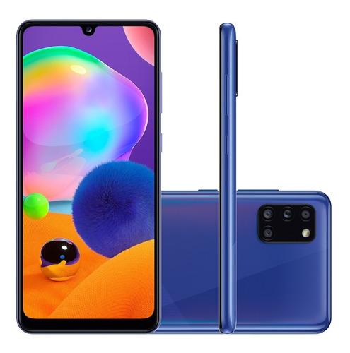 Celular Smartphone Samsung Galaxy A31 A315g 128gb Azul - Dual Chip