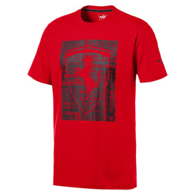 Camiseta Puma Ferrari Big Shield I - Vermelho - Original
