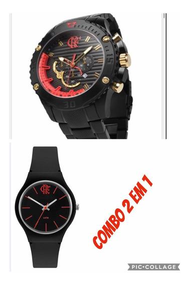 Promo Relógio Flamengo - Combo 2 Em 1