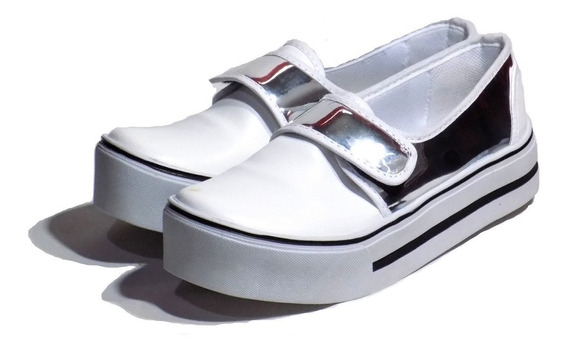 Zapatillas Mujer Nuevo Modelo Abrojo Con Plataforma 2019