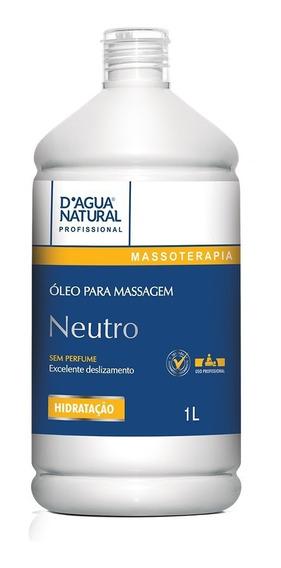 Óleo Para Massagem Corporal Neutro Sem Perfume 1 Litro Dágua Natural
