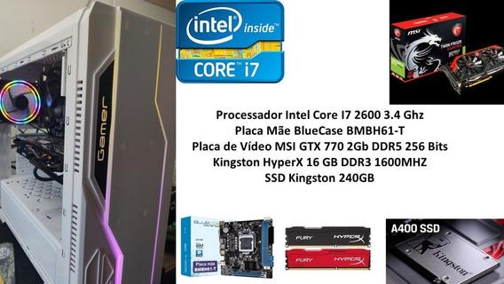 Pc Gamer Intel Core I7 2600 16gb Ssd 240gb Hd 1tb Gtx 770 2g