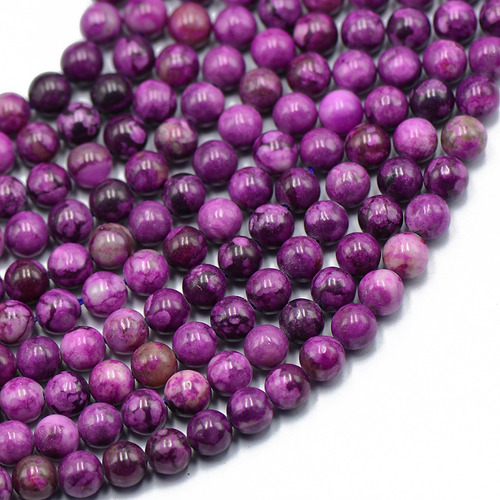 6mm Fake Charoite Round Loose Beads Strand 15 Polegadas