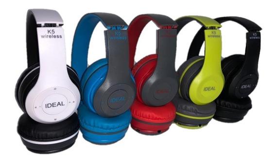Fone De Ouvido Bluetooth Wireless Headphone Mp3 Ideal Ms-k5