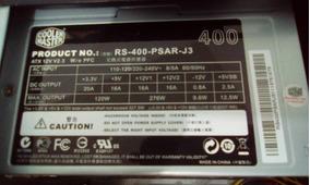 Fonte Cooler Master Rs400 P5ar-j3 Bivolt