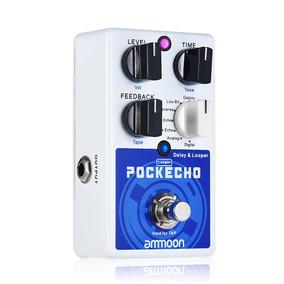 Ammoon Pockecho Atraso E Looper Pedal De Efeito Guitarra 8 A