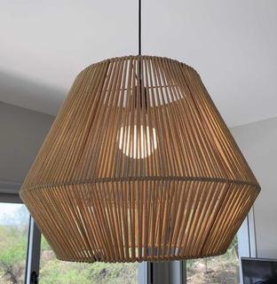 Lámpara Colgante Hilo/yute Premium 35 X 50 Ancho