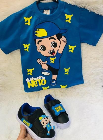 Tenis + Camiseta Kit Bebe Infantil Luccas Neto Promoção